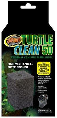 Zoo Med Turtle Clean 50 and 70 External Canister Filter for Aquatic Turtles Repl. Fine Mechanical Sponge for Model 50 (Mfg# TC-50) by Zoo Med