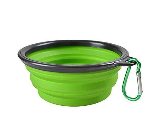 Zero Slow Eating Dog Bowl Portable Folding Waterproof Dog Bowl Interactive Feeder Dog Outdoor Travel Accessories Supplies BL-46908,Green