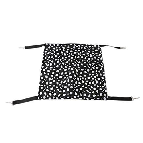 UNKE Pet Cage Hammock, Polyester Polka Dot Small Pet Animal Small Dog Puppy Cat Kitty Kitten Ferret Hanging Hammock Bed Sleepy Pad Comforter
