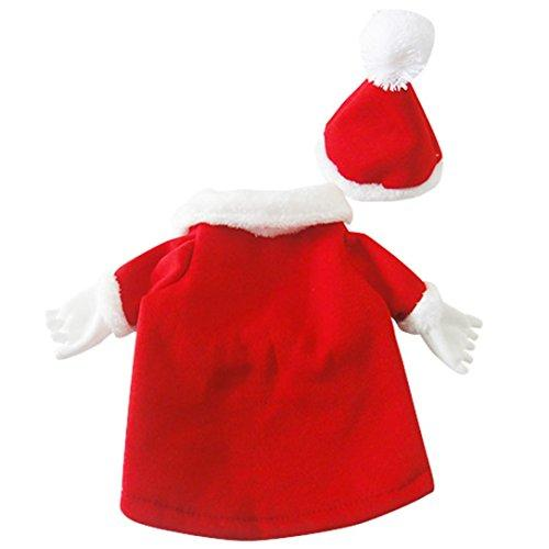 --ღ Ninasill ღ Puppy Pets Clothing Christmas New Year Decoration Dog Spring Winter Clothes (L, Red)--