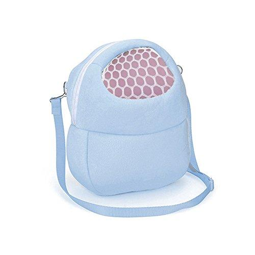 Toy Storage Organizer With The Grid, Unique Style, Unpara Compatible With Small Pets Durable Carrying Backpack for Showing Real Life (Blue)