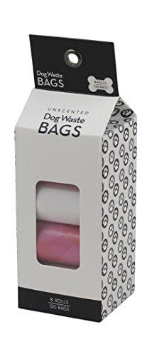 Winifred & Lily Unscented, Eco-Friendly Dog Waste Bags, Bulk Poop Bags on a roll, 8 Rolls, 120 Bags
