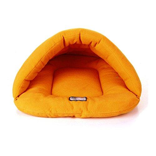 ☀☀☀Soft Bed Smdoxi Pet Sleeping Bag Mat Pad☀☀☀Have A Good Dream (Orange, S)
