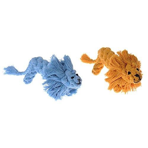 Zrong Dog Toys Cotton Dental Teaser Rope Chew Teeth Cleanning Toy Random Color