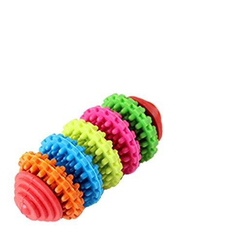 Vibola Colorful Rubber Pet Dog Puppy Dental Teething Healthy Teeth Gums Chew Toys Tool Random Color … (Random Color …)