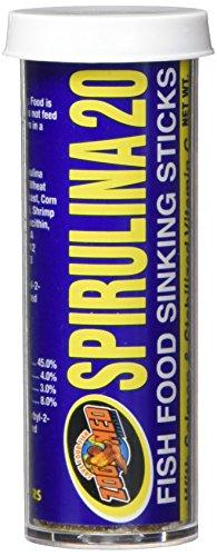 Zoo Med Laboratories AZMASS1 Spirulina 20 Sinking Food Sticks, 0.70-Ounce