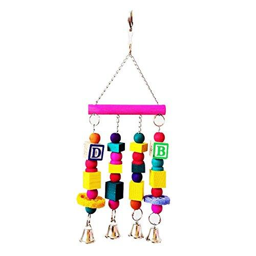TAONMEISU Swing Toy Pet Parrot Wooden Bird Toy Colorful with Number