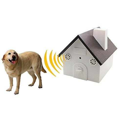 weget ultrasonic dog barking control outdoor pet anti bark deterrent stop barking device Bird House Box Design Waterproof  No Harm To Dogs or other Pets,Plant,Human Easy Hanging