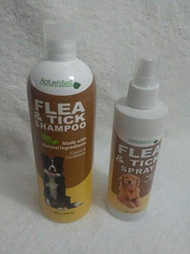 Nature's Best Flea & Tick Dog Cat Shampoo and Spray Natural Remedy