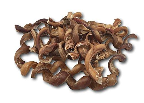 Top Dog Chews Bully Stick Springs for Dogs - Natural Bulk Dog Dental Treats. - 25 Pack, Free Range & Grass Fed Beef