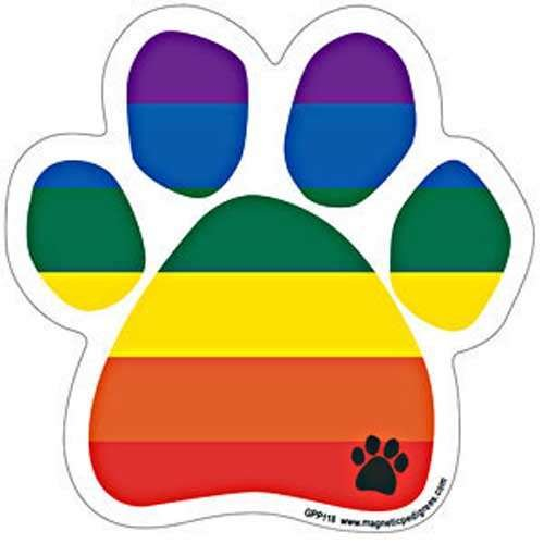 Show Your True Colors - Rainbow Paw - Durable Car Truck & mailbox Magnet