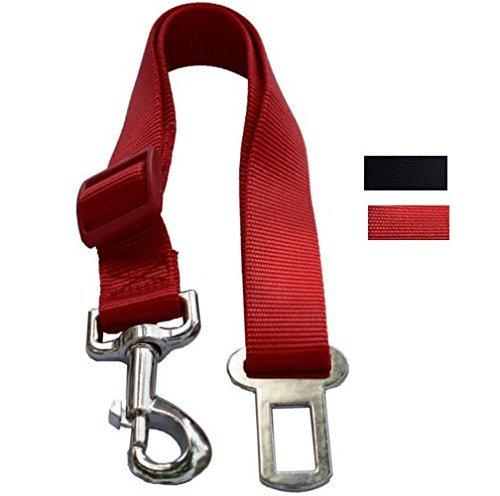 --Red Pet Dog Adjustable Car Automotive Seat Safety Belt Vehicle Seatbelt leash lead Travel For Small / Medium / Large Dogs,Cats--