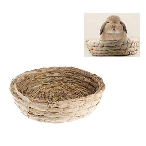 Stock Show Small Animals Handmade Woven Straw Grass Nest Bedding Mat Hut Hammock House Pet Bedding Chew Toy for Rabbits Guinea Pigs Chinchilla Rat Hedgehogs Ferrets and Small Pets