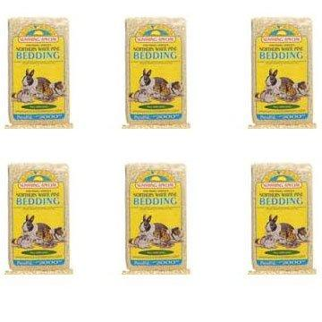 Sun Seed Company SSS18010 Northern White Pine Presspack Small Animal Bedding, 1200 Cubic Inch, Pack of 6