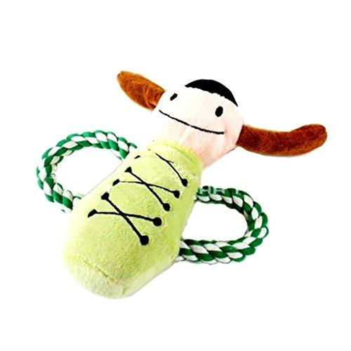 ZX101 Durable Dog Puppy Pet Chewing Ropes Squeaky Plush Cute Cartoon Doll Sound Squeaker Toys