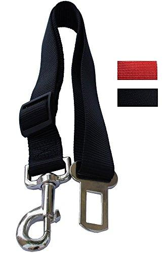 --Lanyarco Black Pet Dog Adjustable Car Automotive Seat Safety Belt Vehicle Seatbelt leash lead Travel For Small / Medium / Large Dogs,Cats--