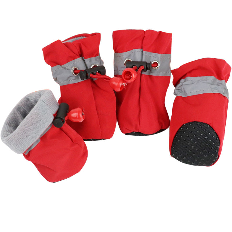 4pcs Anti Slip Dog Shoes Spring Pet Dog Boots for Dogs Footwear Pet Puppy Booties Socks Pet Supplies 1c30