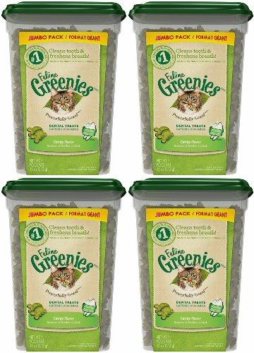Greenies Feline Dental Treats Catnip 44oz (4 x 11oz)