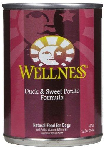 Wellness Complete Health Natural Wet Canned Dog Food - Duck & Sweet Potato Recipe - 12x12.5oz
