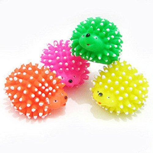 Zrong Pet Dog Puppy Small Chew Squeak Ball Squeaky Toy Cute Hedgehog Shape Funny Toys Random Color