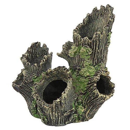 Lovetosell123 Cave aquarium decorations 171219CM Resin Hollow Simulation Tree Hole Hiding Cave Aquarium Reptile Habitat Landscaping Decor