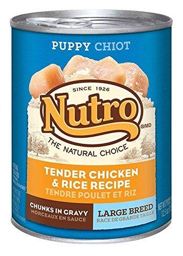 NUTRO Large Breed Puppy Chicken and Rice Canned Dog Food, 12.5 oz. by Nutro