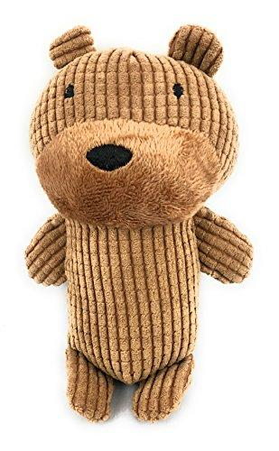 Pet Dog Toys for Dogs with Grinding Teeth Plush Squeaker Squeaky Soft animal bear Interactive Cute aid good behavioral training (Brown) cleaning teeth