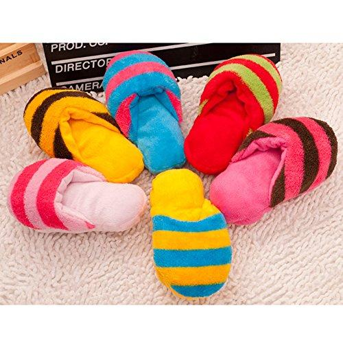 Zrong Cute Puppy Dog Toy Pet Puppy Play Squeaker Squeaky Plush Slippers Shape Toy Random Color