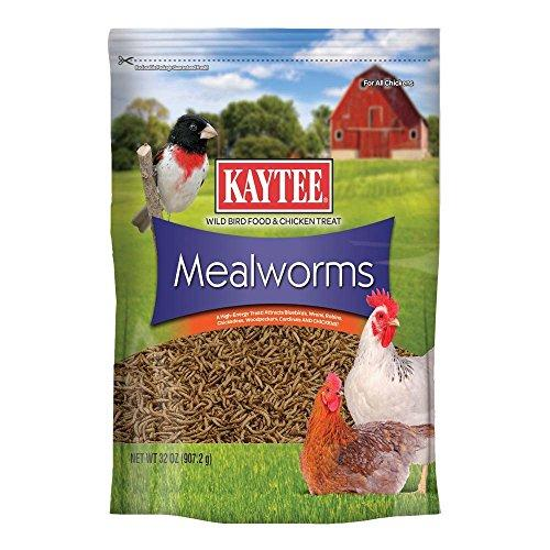 Kaytee Food Wild Bird Mealworm Pouch High Protein Backyard Chickens Seed 32oz