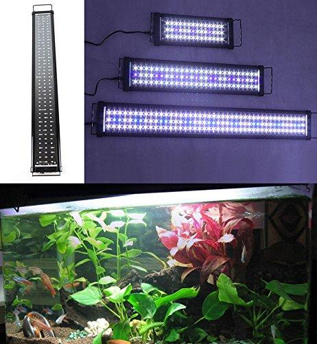 Zeiger Eco Aquarium Hood Led Lighting Fish Lamp Freshwater and Saltwater decorations Light, White and Blue Adjustable 16 inch - 24 inch (5730 LED 11 W)A069