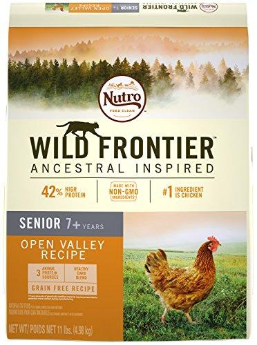 NUTRO WILD FRONTIER Senior Chicken Flavor Grain Free Dry Cat Food 11 Pounds Rich in Nutrients and Full of Flavor; Supports Healthy Joints & Healthy Skin and Coat
