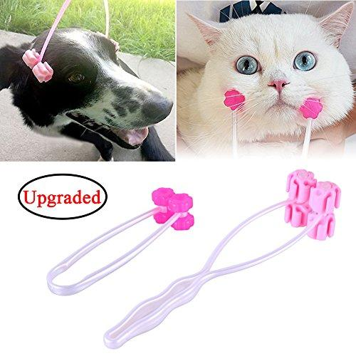 [Upgraded Version] Cat Face Massager Roller for Pet Dog and Kitty Cat Massage Roller, Bestanx Feet Legs Neck Relief Grooming Tool Interactive Toys (25cm+12cm) 2 Pack