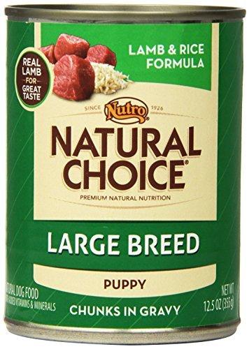 Natural Choice Dog Large Breed Lamb and Rice Dinner Puppy Food Cans, 12-1/2-Ounce, cans by Nutro