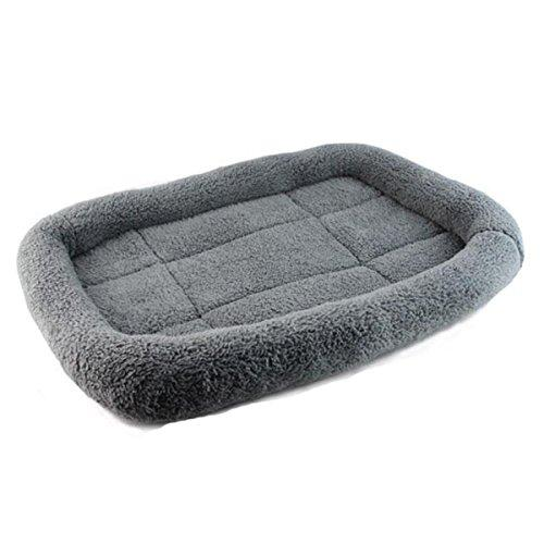 Ruibaolai Pets Padded Pets Bolster Breathable Dogs Cats Pets Cushion Beds Mats (M(5037/cm), Gray)