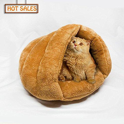 Zuckbergs Cozy Cat Sleep Bag Warmer Pet Sleeping Bag Bed Indoor for Winter Portable Collapsible Pet Dog Kennel Mat for Pet Kennel Accessories