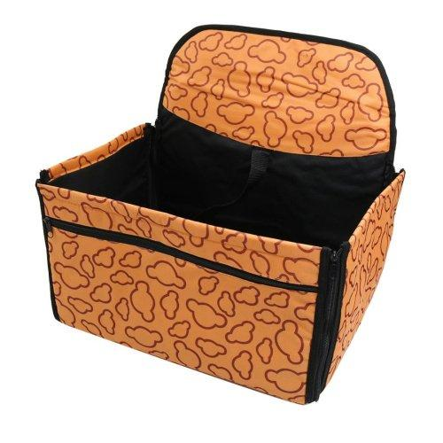 --Pyuang 2-In-1 Waterproof Dog Pet Car Seat Covers Washable Automotive Cat Carrier for Travel, Orange--