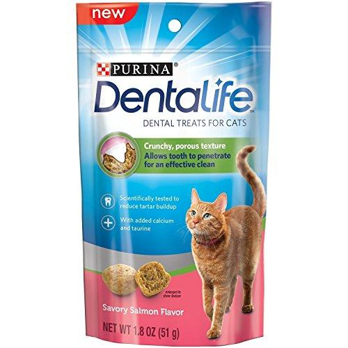 Purina Dentalife Dental Treats for Cats, Salmon 1.8 Oz (Pack of 4)