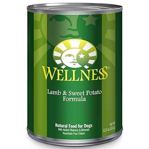 Wellness Complete Health Natural Wet Canned Dog Food, Lamb & Sweet Potato, 12.5-Ounce Can by Wellness Natural Pet Food