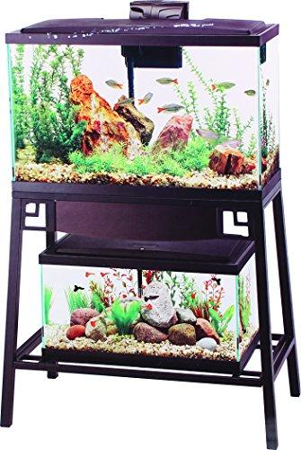 --Aqueon Forge Metal Aquarium Stand, 30 by 12-Inch, Black--