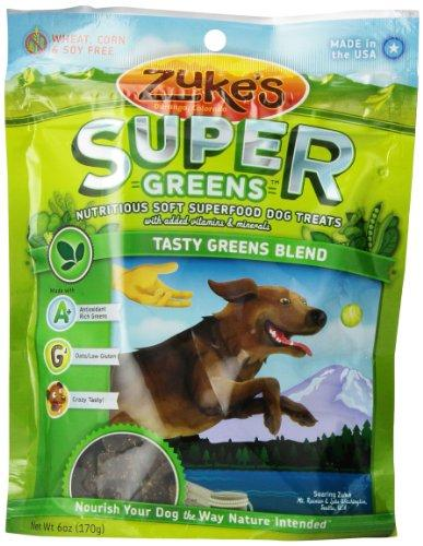 Zuke's Supers Nutritious Soft Superfood Dog Treats, Tasty Greens Blend, 6 Ounce