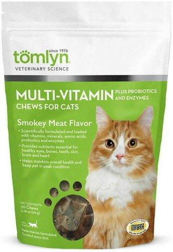 Tom Lyn Feline Multi-Vitamin Chews for Cats Smokey Meat 30ct