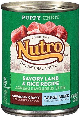 Nutro 50411587 Savory Lamb & Rice Recipe Chunks In Gravy Can Large Breed Puppy Food, 12 EA/12.5oz
