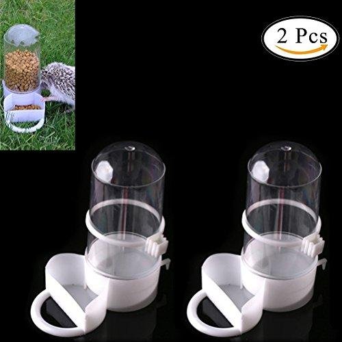 SQingYu 2 Pcs Bird Pet Drinker Feeder Automatic Food Waterer Clip Aviary Cage Parrot Budgie