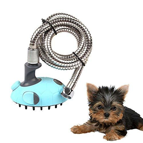 SymbolLife Multifunctional Pet Dog Cat Shower Head Handhold Sprayer Kit Massage Brush / Comb with Shampoo Dispenser
