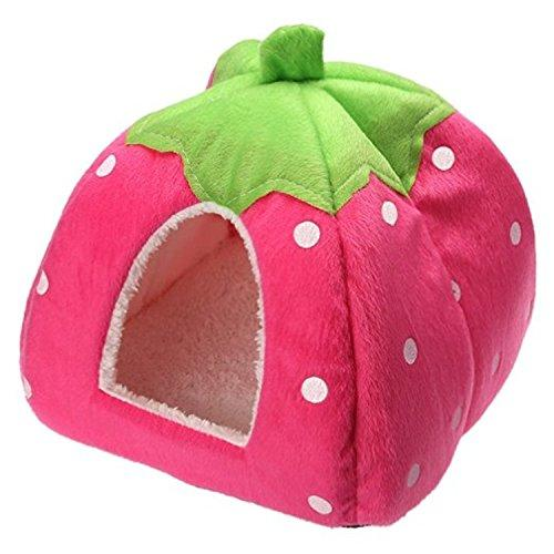 Century Star Cute Soft Small Animal Pet Winter Warm Squirrel Hedgehog Chinchilla House Cage Pink XS