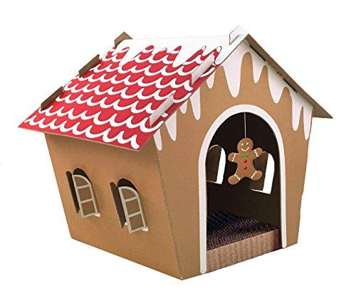 --Companion Gear 70070 Holiday Gingerbread Cat Scratcher House--
