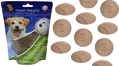 MLB BOSTON RED SOX DOG TREATS. Delicious Baseball Shaped Cookies for Dogs & Cats. Best Dog Rewards. Natural & Healthy Dental Dog Snack.