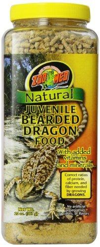 Zoo Med 20-Ounce Natural Bearded Dragon Food, Juvenile Formula by Zoo Med