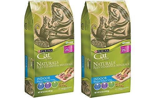 Purina Cat Chow Naturals, Indoor Plus Vitamins & Minerals Dry Cat Food 6.3 lb. Bags (Pack of 2)