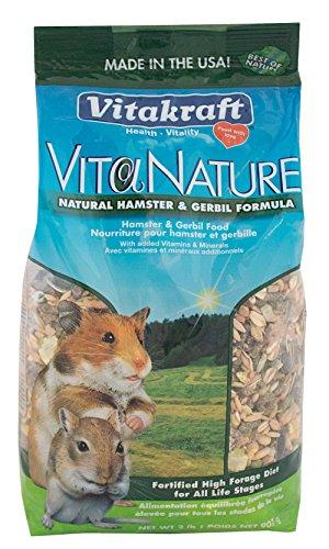 --Vitakraft Hamster and Gerbil Food Natural High Diversity Formula (1 Pouch), 2 lb--